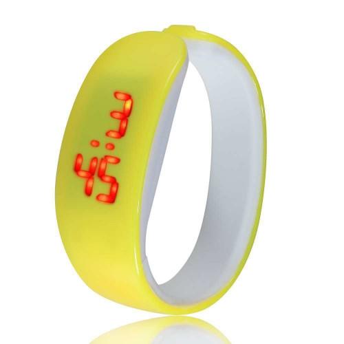 Đồng hồ LED vòng tay Nhựa Silicon thời trang kiểu mới - Vàng