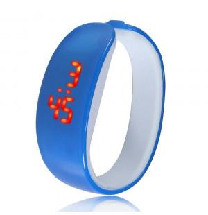 Đồng hồ LED vòng tay Nhựa Silicon thời trang kiểu mới - Xanh biển