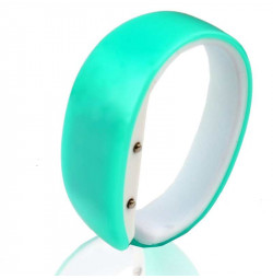 Đồng hồ LED vòng tay Nhựa Silicon thời trang kiểu mới - Xanh ngọc