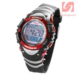 Đồng hồ điện tử đeo tay thể thao Popart 385 - Đỏ