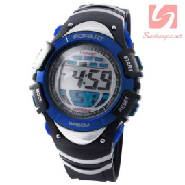 Đồng hồ điện tử đeo tay thể thao Popart 385 - Xanh