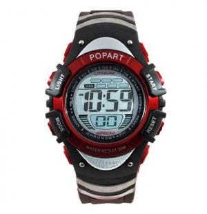 Đồng hồ điện tử đeo tay thể thao Popart 386 - Đỏ