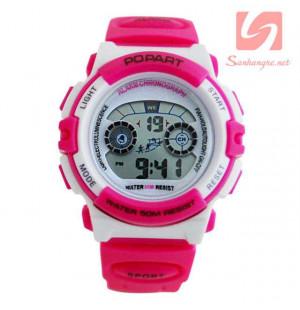 Đồng hồ điện tử đeo tay thể thao Popart 310 - Hồng đậm