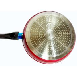 Chảo chống dính Elmich đáy từ nắp kính 28cm EIV-50028 cán đen