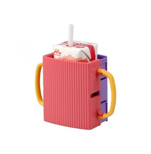 Giá để hộp sữa cầm tay cho bé Inomata hàng Nhật - Hồng