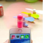 Quạt Mini Silicon gắn Iphone Ipad Ipod độc đáo