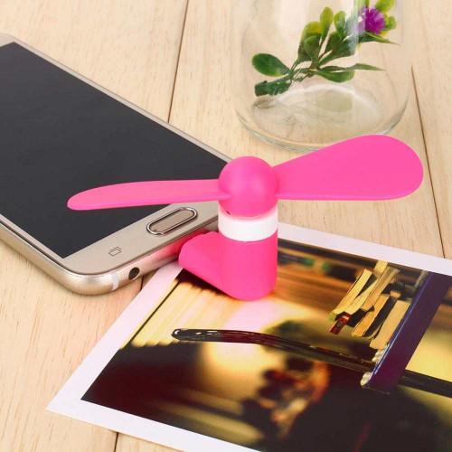 Quạt Mini Usb 2 cánh cắm điện thoại Android, Windows Phone - Hồng