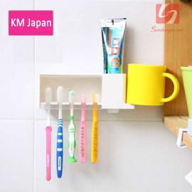 Giá để bàn chải kem đánh răng dính tường KM 1002 hàng Nhật