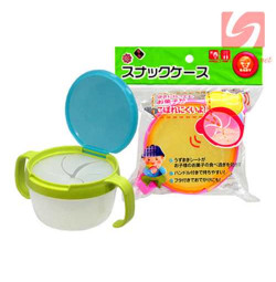 Cốc 2 quai ăn bánh snack cho bé Baby 3163 hàng Nhật - Xanh