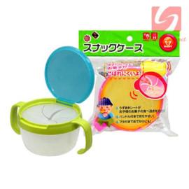 Cốc 2 quai ăn bánh snack cho bé Baby 3163 hàng Nhật màu Xanh