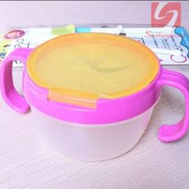 Cốc 2 quai ăn bánh snack cho bé Baby 3163 hàng Nhật - Hồng