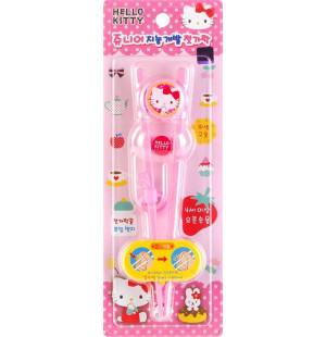 Đũa tập ăn cho bé Hello Kitty Junior RJ-0382 hàng Hàn Quốc