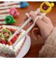 Đũa tập ăn cho bé hình chú cừu TM12025 xuất Nhật