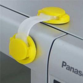 Combo 2 dụng cụ khóa, giữ cửa an toàn Mobon hàng xuất Nhật - Nâu