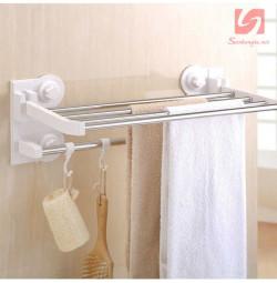 Giá 2 tầng treo khăn hít tường nhà tắm FQ2901