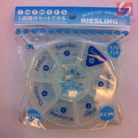 Hộp chia thuốc tròn 7 ô KM 1253 hàng Nhật