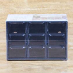 Hộp đựng đồ cá nhân 9 ngăn kéo KM 1254 hàng Nhật (Đen)