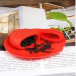 Bộ dụng cụ hãm trà Silicon KM-1350 hàng Nhật - Đỏ