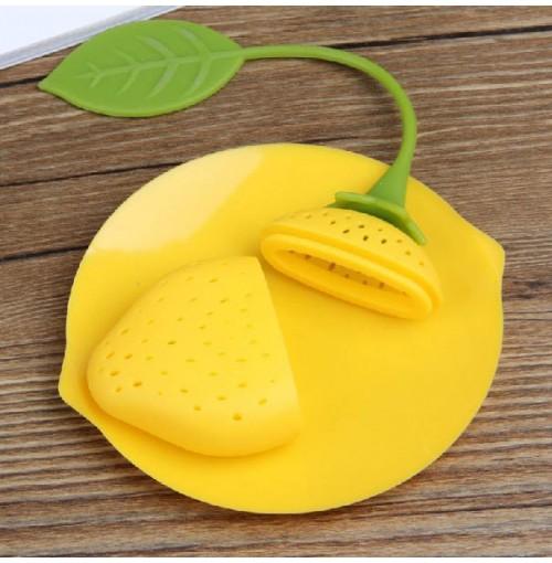 Bộ dụng cụ hãm trà Silicon KM-1350 hàng Nhật - Vàng