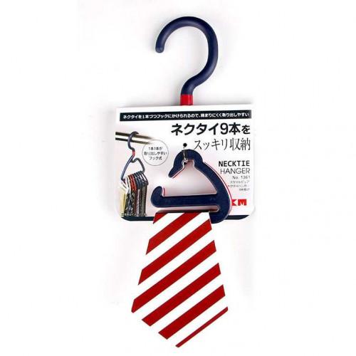 Móc treo 9 cà vạt, khăn mùi xoa KM 1361 hàng Nhật (Xanh)