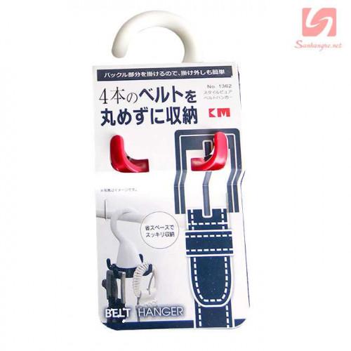 Móc treo 4 thắt lưng xoay 360 độ KM 1362 hàng Nhật - Đỏ
