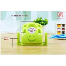 Giá cắm bàn chải và kem đánh răng KM 2032 hàng Nhật - Hồng