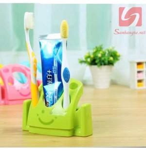 Giá cắm bàn chải và kem đánh răng KM 2032 hàng Nhật - Xanh lá