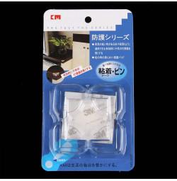 Bộ 4 miếng nhựa dẻo bịt góc bàn trong suốt KM 365 hàng Nhật