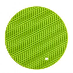 Miếng lót nồi Silicone uốn dẻo đa năng vân tổ ong KM-1296 hàng Nhật - Xanh lá