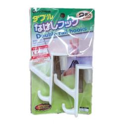 Combo 2 móc treo cánh cửa hàng Nhật KM-1082 (Trắng sữa)