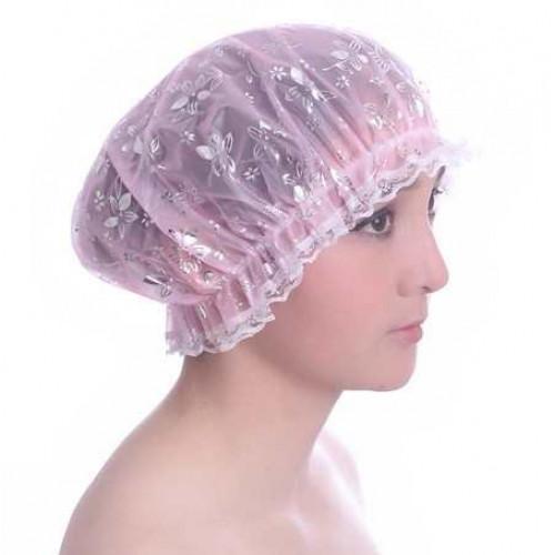 Mũ chùm đầu khi tắm JMJ-LD025 hàng xuất Nhật - Hoa bạc