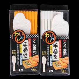 Mành cuộn sushi, cơm, bánh kèm thìa Niheshi 1312 hàng Nhật - Cam