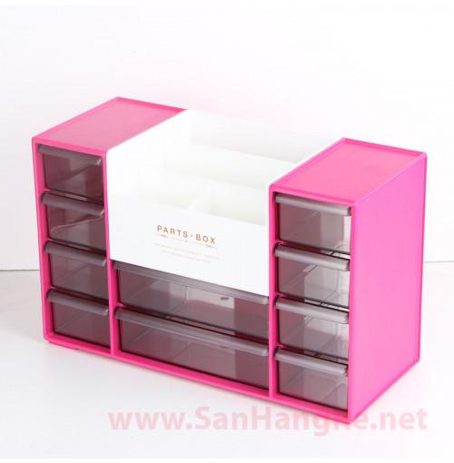 Hộp ngăn kéo để đồ đa năng Niheshi 6051C hàng Nhật ( Hồng )