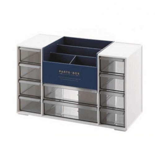 Hộp ngăn kéo để đồ đa năng Niheshi 6051D hàng Nhật ( Trắng xanh )