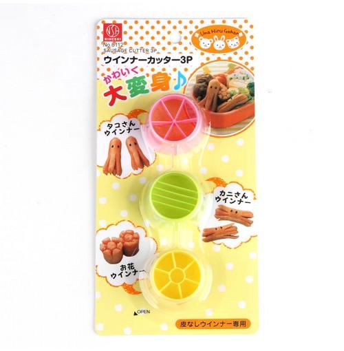 Vỉ 3 dụng cụ cắt tạo hình xúc xích Niheshi 6112 hàng Nhật