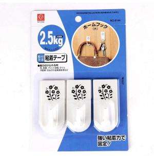 Bộ 3 móc dính tường hoa văn 2,5kg Niheshi 6144 hàng Nhật