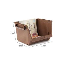 Giá mini để đồ tiện lợi 13.3x10x9cm Niheshi 6174 hàng Nhật (Trắng)