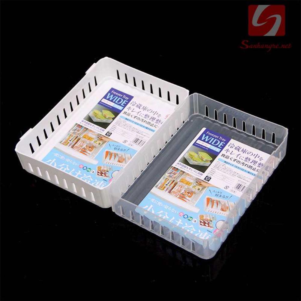 Bộ 2 khay nhựa để đồ trong tủ lạnh Niheshi 6208 hàng Nhật