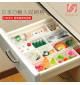 Bộ 2 khay nhựa chia ngăn để đồ trong tủ lạnh Niheshi 6209 hàng Nhật