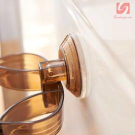 Giá treo máy sấy tóc và phụ kiện hít tường SM-1753 (Đen)