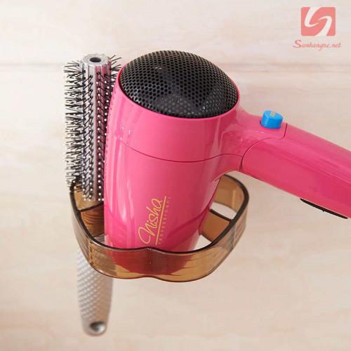 Giá treo máy sấy tóc và phụ kiện hít tường SM-1753 (Nâu)