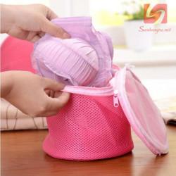 Túi lưới giặt đồ lót HY-2332 hàng xuất Nhật - Hồng