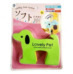 Set 2 miếng xốp kẹp cửa hình chó Lovely Pet SD01A - Xanh lá, vàng