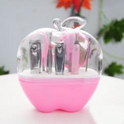 Bộ dụng cụ làm móng đa năng 9 món quả táo - Hồng