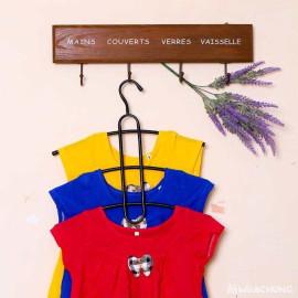 Móc treo quần áo đa năng 3 tầng tiết kiệm diện tích