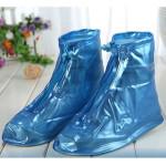 Ủng đi mưa bảo vệ giầy cố ngắn đế chống trơn - Xanh