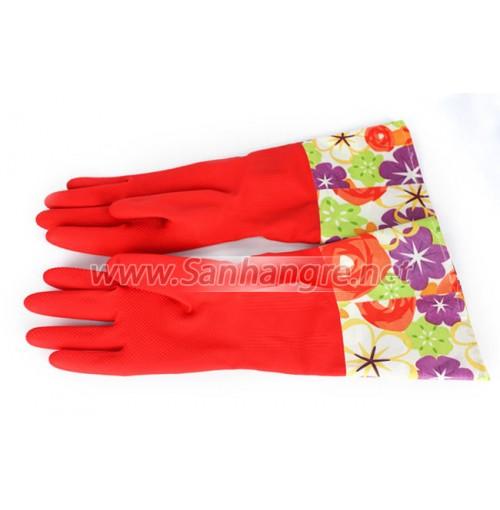 Găng tay cao su lót nỉ 2 lớp cho mùa đông ấm áp