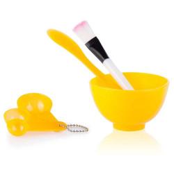 Bộ dụng cụ trộn mặt nạ đắp mặt Beauty Mask 4 in 1 (Cam)