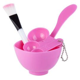 Bộ dụng cụ trộn mặt nạ đắp mặt Beauty Mask 4 in 1 (Hồng)