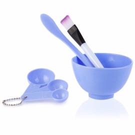 Bộ dụng cụ trộn mặt nạ đắp mặt Beauty Mask 4 in 1 (Xanh biển)